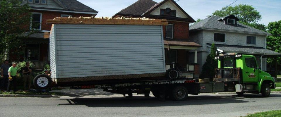 house on truck